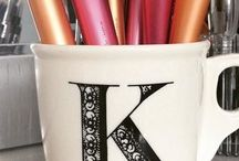 Monogram Mugs / Make your own monogram mug! Perfect for gifts or for yourself.