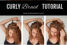 Curly hair braid
