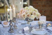 Styleboxe Silver Glamour Wedding / https://www.styleboxe.com/product/silver-glamour-wedding-table-decor-set/