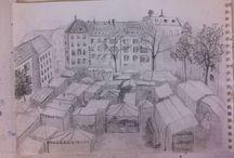 Urban Sketching - Architekturzeichnung