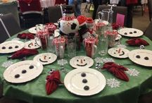 snowman tablescapes