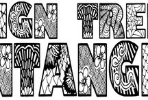 """Design Trends - Zentangle / Welcome to the last in this four-part series on Design Trends. Today we ask """"What on earth is a Zentangle?""""  This is a common question when this design trend comes up in conversation – it is still very new to many people."""
