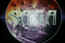 """S.A.G.A. Brand Blaze Globe Logo  / The official Trademark Logo for the new and emerging S.A.G.A. (Super Awesome Graphic Arts) Brand the """"Blaze Globe"""""""