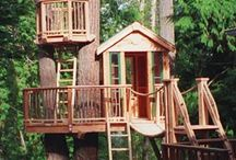 Play House Inspiration / Tree house / play house. Whatever it ends up being, the kids are super excited and I'm excited to build it.