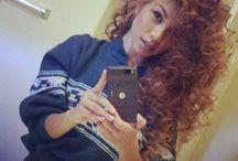 curly hair. / I love this hairs .