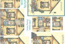 3d- Huizen en Stadsgezichten