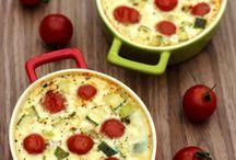 Clafoutis de tomates chèvre et courgette