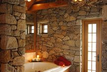 Bathroom -- Log Cabin