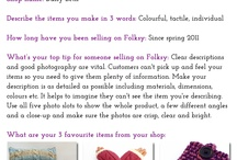 Folksy Five / Mini interviews with some of my favourite sellers on Folksy.