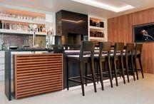 Apto Manacá - Terraço / Referências para o projeto de interiores do terraço (revestimento parede, mobiliário, soluções de marcenaria, iluminação, adornos, etc)