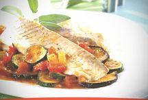 Receta de Filetes de pescado con pisto