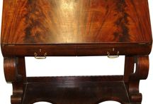 Antique Furniture / Antique desks, cabinets and tables from the turn of the century