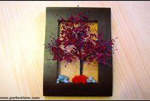 Perlenkunst-Eigenkreationen: Bäume & Pflanzen