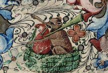 Wildlife in old manuscripts