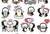 pinguïns tekening