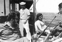 Pécheurs célèbres / Collection de photos d'illustres personnages en action de pêche