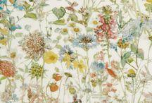 Floral print pattern - цветочные мотивы в тканях