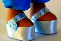 Doll shoes blue