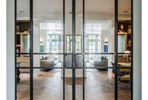 drzwi szklane stalowe