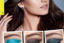 Maquiagens ousadas / Maquiagens possíveis de se usar no dia-a-dia, para quem curte uso de cores nos olhos, lábios e formas inusitadas de se maquiar!