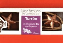 Navidad / Turrones Artesanos de chocolate BIO de Comercio Justo.