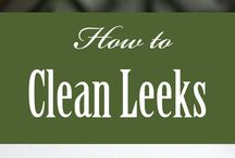Clean and Prepare your food / Learn how to clean and prepare foods that are not staples in many homes. Knowing how to clean and use new foods is not so scary when you know how!