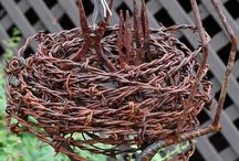 Repurposed Barbed Wire / by Nancy Everly