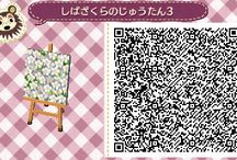 〃 animal crossing's QR-codes. - paths. / Vintage - Aesthetic - Retro.