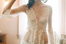 Night wear- silk and lace