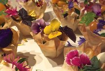 Edible Flower Canapés / Floral Canapés by Maddocks Farm Organics & Others who inspire us.