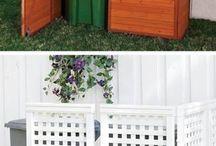 Kontejnery - květiny, popelnice zástěny atd