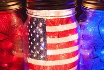 Patriotic Lights and Decor / DIY projects and ideas inspired by red, white and blue string lights and american flag decor. Show your pride with patriotic decorations during July 4th, Memorial Day and all year long!  / by Christmas Lights, Etc