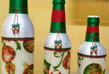garrafas decoradas para cozinha