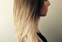 Ombre / Ombre styles in hair.