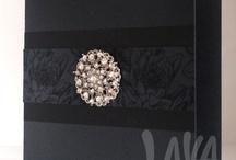 Bling, Diamante & Crystal Invitations / http://lavastationery.com.au/invitations/wedding/diamantes.html