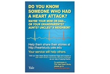 Heart Study Materials  / Please contact us at heart.study@yale.edu if you would like us to mail you any of our materials.  / by Yale Heart Study