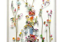 estampa de flores
