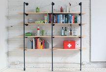 Shelves, Coat racks, hooks + more / by Susana T