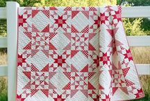 Red and White Quilts / Modern and Classic Red and White Quilts