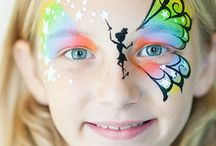 fairy face paint inspiration / by Kristen Peden