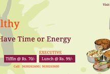 Tiffin Service In Vadodara / No Time for Cooking? Home-Kitchen provides Tiffin at Rs.70/- and executive lunches at Rs.99/- which is quite reasonable considering the variety, quality and the portion size of the food served.