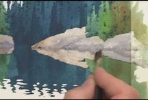 akvarellimaisemat