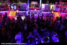 Ночные Клубы Анталии/Night Clubs in Antalya / Дискотека, рестораны, пеннные вечеринки, концерты эстрадных певцов . //Disco, Restaurants, Foam Party, Concerts
