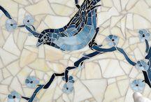 Mosaik/fliser/glassplater inspirasjon