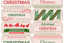 Printable Christmas Tags etc