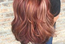 Hair, reds and purples