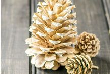 bleach pine cones