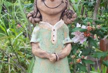 Little girl ceramic