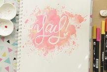 Ilustraciones y Lettering / Selección de imágenes hermosas ilustradas e ideas para lettering.