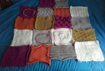 """My knitted blanket ---Mi manta de Tricot / Proyecto """"Mi manta de Tricot"""". Consiste en tejer los cuadrados de una manta de 115x150cm. Cada cuadrado tiene un diseño diferente. Las instrucciones son del coleccionable """"Tricot Fácil y Creativo"""""""